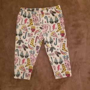 Fleece Lined Girls Christmas Pattern Leggings